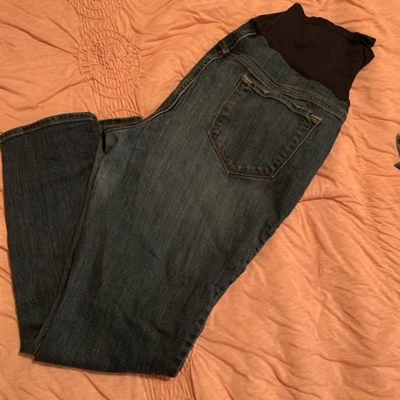Old Navy Denim - Old Navy Maternity straight leg full panel jeans